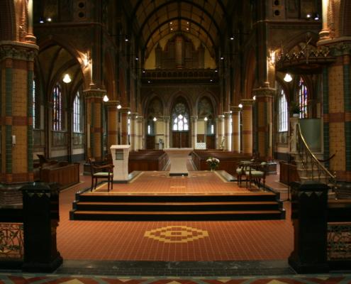 herinrichting interieur Bonifacius kerk Alphen aan den Rijn