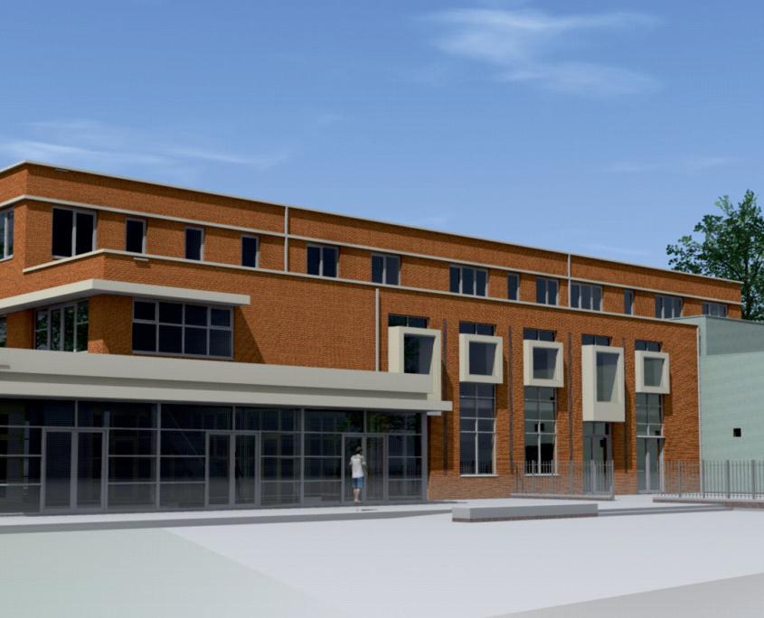 Multifunctionele accommodatie (MFA) voor scholing en werken