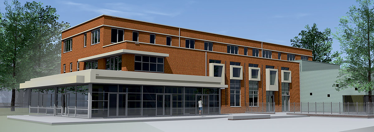 nieuwbouw VSO-school met gymzaal
